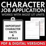 Job Application characterization worksheet use with any li