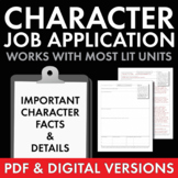 Job Application Characterization, Fun worksheet to use wit