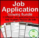Job Application Resume Bundle Distance Learning Life Skill