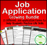 Job Application Resume Bundle Distance Learning Life Skill