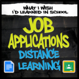 Job Application Unit - Distance Learning/Independent Study
