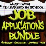 Job Application Unit - Special Education High School (Print/Google)