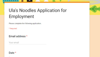 Job Application Using Google Forms