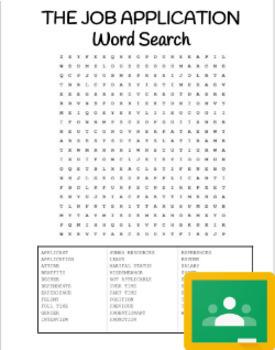 Job Application Word Search (Print/Google)