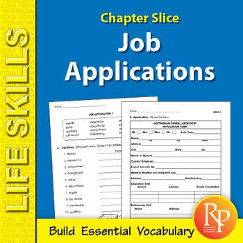 Job Applications Life Skills Unit