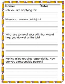Job Application {Worksheet}