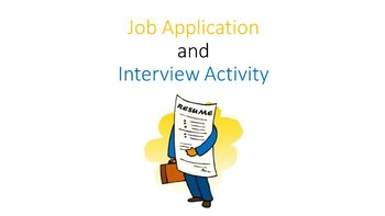 Job Application and Interview Activity/Project
