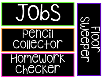 Job Cards/Labels