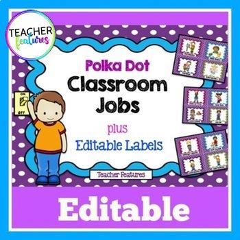 Editable Job Chart (Purple Polka Dot)