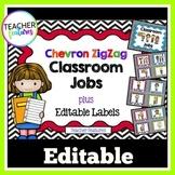 Editable Job Chart | Class Jobs Editable | Black & White Chevron