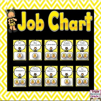 Job Chart - Bee Theme