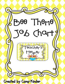 Job Chart- Bee Theme