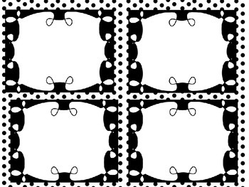 Job Chart Black and White Polka Dots