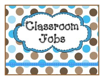 Job Chart Brown Teal Polka Dot