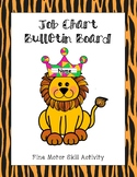Job Chart - Bulletin Board / Fine Motor Skills Activity (Jungle Theme)