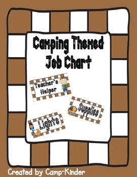 Job Chart- Camping Theme