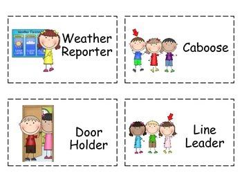 Job Chart Classroom Helpers