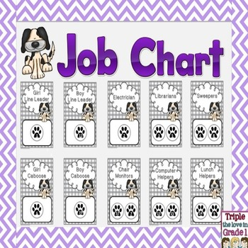 Job Chart - Dog Theme
