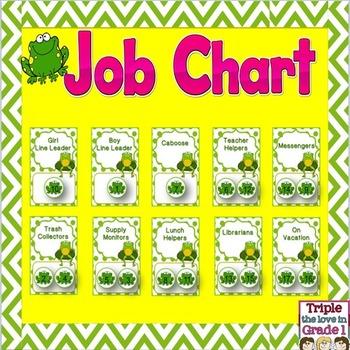 Job Chart - Frog Theme
