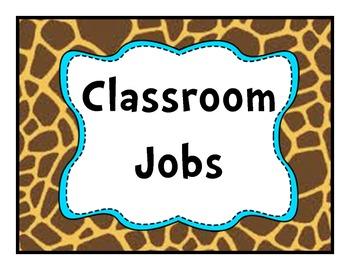 Job Chart GiraffeTeal