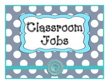 Job Chart Gray Polka dot & Teal Theme