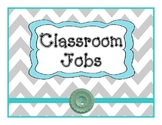 Job Chart Gray Teal Chevron Theme
