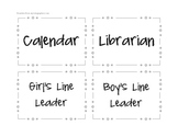 Job Chart Labels-Editable