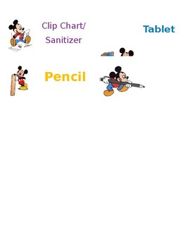 Job Chart Labels Mickey Mouse