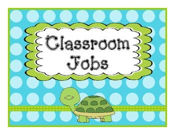 Job Chart Lime Teal Polka Dot Theme