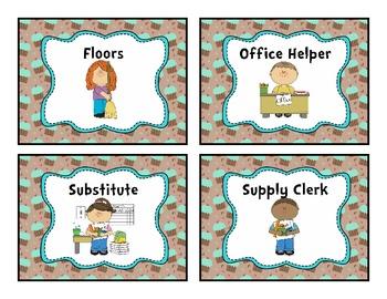 Job Chart Minty Cupcake Theme