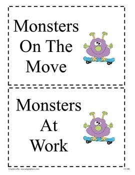 Job Chart - Monster Theme