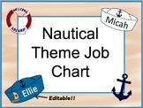 Job Chart:  Nautical Theme