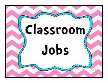 Job Chart Pink Chevron