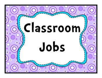 Job Chart Purple Dotted