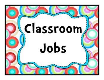 Job Chart Rainbow Circles