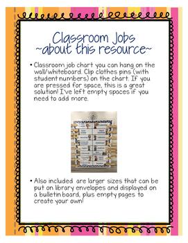 Job Chart - Sunshine Bright - Space saving!