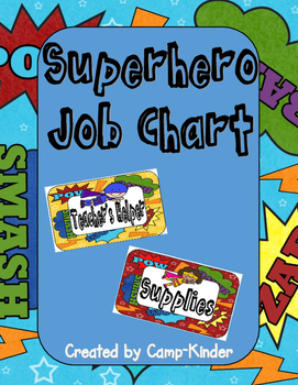Job Chart- Superhero Theme