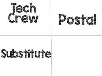 Job Chart Titles *FREEBIE*