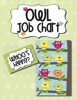 "Job Chart:  ""WHOO's Helping?"""