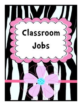 Job Chart Zebra Pink Vertical