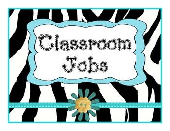 Job Chart Zebra Teal