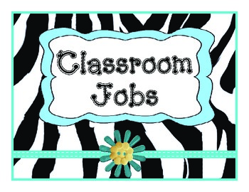 Job Chart Zebra Teal Vertical