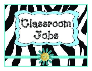 Job Chart Zebra Teal Vertical