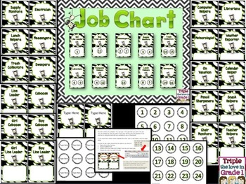 Job Chart - Zebra Theme {Editable}