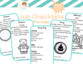Job Checklists for Tiny Tots