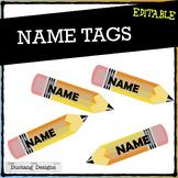 Editable Name Tags Template