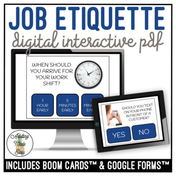 Job Etiquette Digital Interactive Activity Vocational Career Workplace