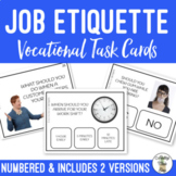 Job Etiquette Task Cards