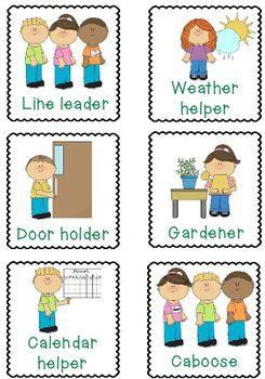 Job Helper Cards By Jennifer Dibbert Teachers Pay Teachers