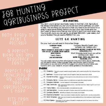Job Hunting *EDITABLE*
